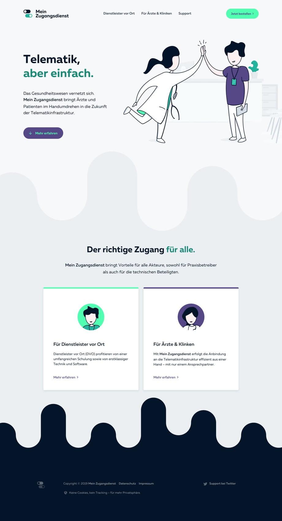 Corporate Website Desktop View